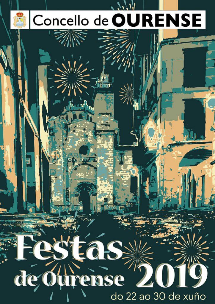 Cartel de las fiestas de Ourense 2019