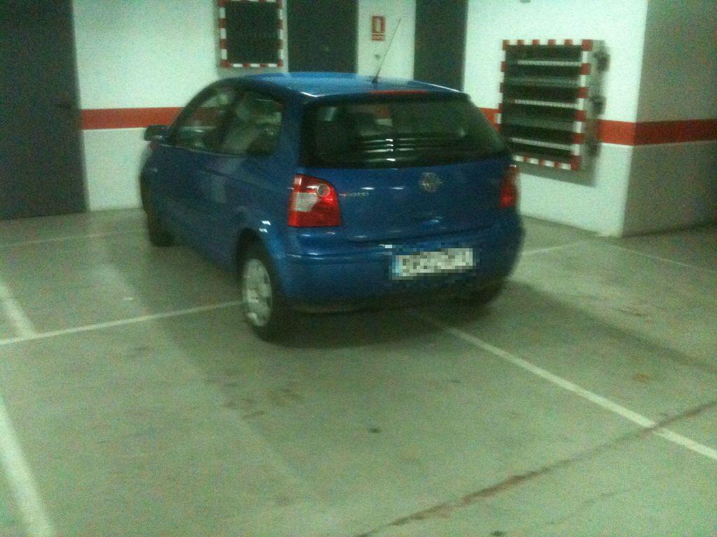 Mal aparcado en Mercadona