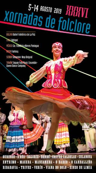 Las Xornadas de Folclore de Ourense 2019 llenan de color y baile el mes de agosto en la provincia
