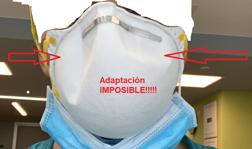 Mascarillas N95 imposibles de adaptar