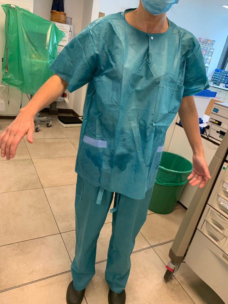 Pijamas empapados tras jornada trabajo Chuo
